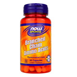 NOW Foods Branched Chain Amino Acids 60 caps DATA 10/2021