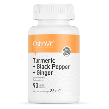 OstroVit Turmeric + Black Pepper + Ginger 90 tabs